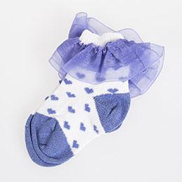 Puantiyeli Fırfırlı Soket Çorap Beyaz (0-24 ay)