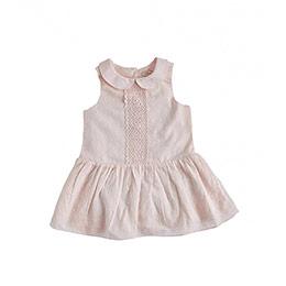 Kız Bebek Kolsuz Elbise Pembe (0-3 yaş)