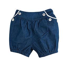 Kız Çocuk Kot Şort Açık Mavi (0-3 yaş)