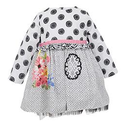 Kız Bebek Uzun Kol Elbise Gül Kurusu (0-3 yaş)