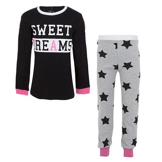 Kız Çocuk Pijama Takımı Siyah (3-7 yaş)