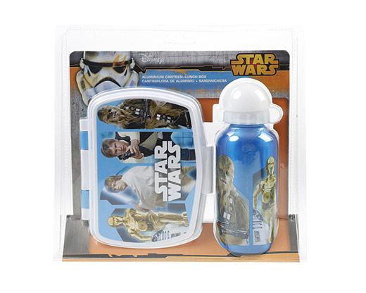 Star Wars Aliminyum Matara ve Kutu Set Mavi