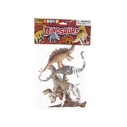 Animal World 6 parça 8 inch Dinozor Oyun Seti - Poşette
