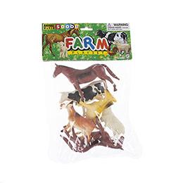 Animal World 6 parça 6 inch Çiftlik Hayvanları Oyun Seti - Poşette
