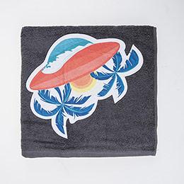 Erkek Çocuk Plaj Havlu Füme 70x140