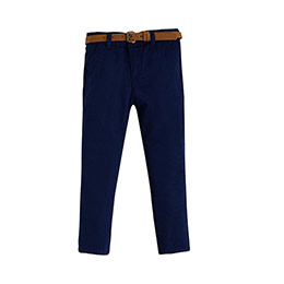 Erkek Çocuk Kemerli Pantolon Lacivert (3-12 yaş)