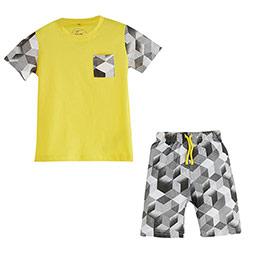 Erkek Çocuk Pijama Takımı Sarı (4-12 yaş)