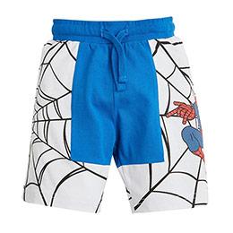 Ultimate Spider-Man Erkek Çocuk Beli Lastikli Şort Açık Mavi (3-7 yaş)