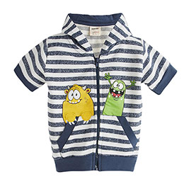 Erkek Çocuk Kapüşonlu Kısa Kol Sweatshirt (1-5 yaş)