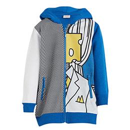 Erkek Çocuk Kapüşonlu Sweatshirt Mavi (3-12 yaş)