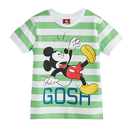 Disney Mickey Mouse Erkek Çocuk Kısa Kol Tişört Yeşil (2-7 yaş)
