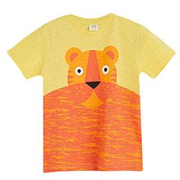 Erkek Çocuk Kısa Kol Tişört Antik Sarı (3-12 yaş)