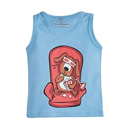 Erkek Bebek Kolsuz T-Shirt Bulut (0-2 yaş)