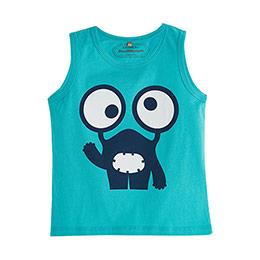 Erkek Bebek Kolsuz T-Shirt Okyanus (0-2 yaş)