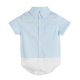 Erkek Bebek Kısa Kol Badi Açık Mavi (0-2 yaş)