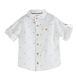 Erkek Bebek Uzun Kol Gömlek Baskılı (0-2 yaş)