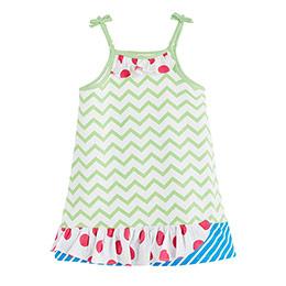 Kız Çocuk Askılı Elbise Yeşil (3-12 yaş)