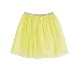 Kız Çocuk Tütülü Etek Limon Sarısı (3-12 yaş)