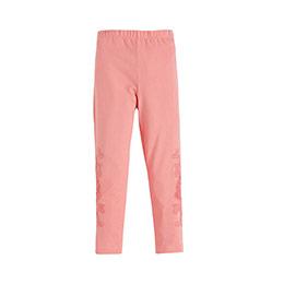Pop Girls Kenarı Güpürlü Tayt Pink Tint (3-10 yaş)