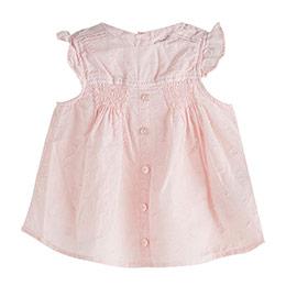 Pop Girls Düğmeli Kısa Kol Bluz Pink Lady (0-2 yaş)
