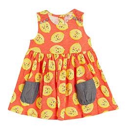 Kız Bebek Kolsuz Elbise Baskılı (0-2 yaş)