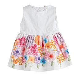 Kız Bebek Kolsuz Elbise Beyaz (0-2 yaş)