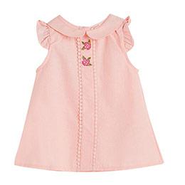 Little Parisienne Kısa Kol Kız Bebek Gömlek Pink (0-2 yaş)