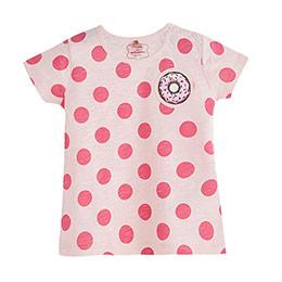 Pop Girls Puantiyeli Kısa Kol Tişört Pink Lady (0-2 yaş)