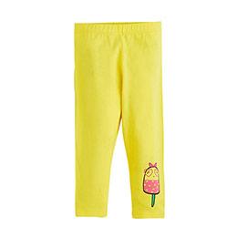 Pop Girls Dondurma Baskılı Kısa Kol Tişört Koyu Sarı (0-2 yaş)