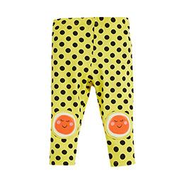 Pop Girls Puantiyeli Tayt Koyu Sarı (0-2 yaş)