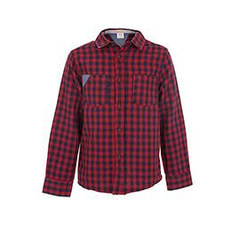 Erkek Çocuk Uzun Kol Gömlek Bordo (3-12 yaş)