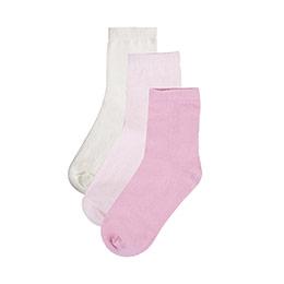 Kız Çocuk Üçlü Çorap Set Pembe (19-34 numara)