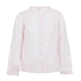 Kız Çocuk Uzun Kol Gömlek Mat Pembe (3-12 yaş)