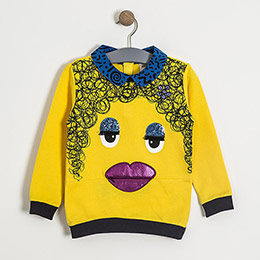 Kız Çocuk Sweatshirt Sarı (1-7 yaş)