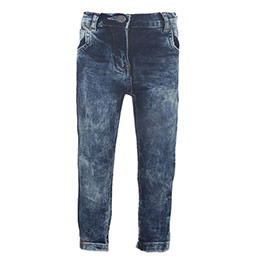 Kız Bebek Kot Pantolon Açık Mavi (0-3 yaş)