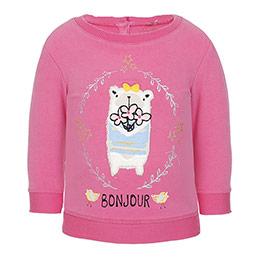 Kız Bebek Sweatshirt Şeker Pembe (56-92 cm)