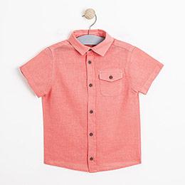 Erkek Çocuk Kısa Kol Gömlek Mercan (3-12 yaş)