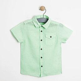 Erkek Çocuk Kısa Kol Gömlek Açık Yeşil (3-12 yaş)