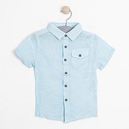 Erkek Çocuk Kısa Kol Gömlek Petit Blue (3-7 yaş)