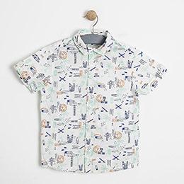 Erkek Çocuk Kısa Kol Gömlek Baskılı (3-12 yaş)