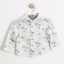 Erkek Bebek Kısa Kol Gömlek Baskılı (56cm-2 yaş)