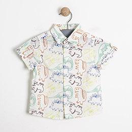 Erkek Bebek Kısa Kol Gömlek Baskılı (0-2 yaş)
