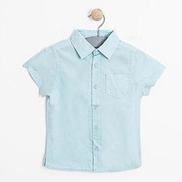 Erkek Bebek Kısa Kol Gömlek Petit Blue (0-2 yaş)