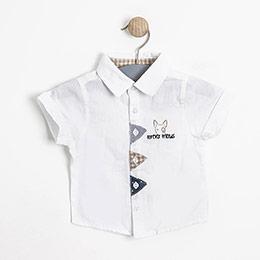 Erkek Bebek Kısa Kol Gömlek Baskılı (0-3 yaş)