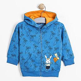 Erkek Bebek Sweatshirt Mavi (0-2 yaş)