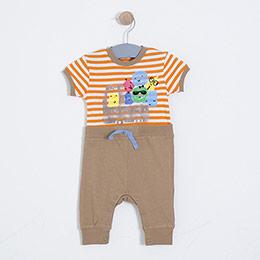 Erkek Bebek Tulum Toprak (0-2 yaş)