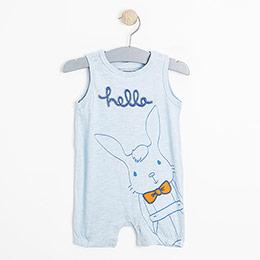 Erkek Bebek Askılı Tulum Açık Mavi (0-2 yaş)