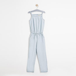 Kız Çocuk Askılı Tulum Açık Mavi (74 cm-7 yaş)