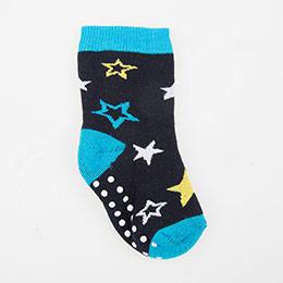 Erkek Çocuk Altı Kaydırmaz Havlu Çorap Mavi (23-30 numara)
