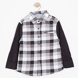 Erkek Çocuk Uzun Kol Gömlek Siyah (3-12 yaş)